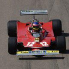 Plano superior del Ferrari 312 T4 en Fiorano