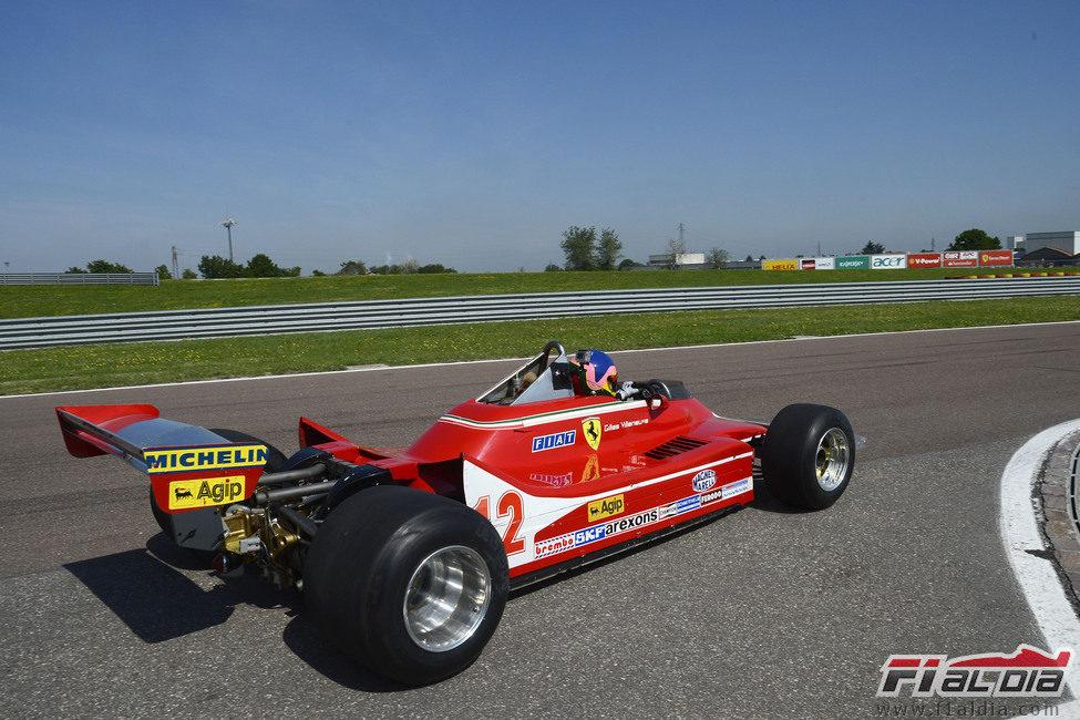 Vista trasera del Ferrari 312 T4 en Fiorano
