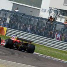 Algunos privilegiados pudieron ver a Jacques al volante del Ferrari de 1979