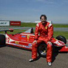 Jacques Villeneuve y el Ferrari 312 T4 de 1979