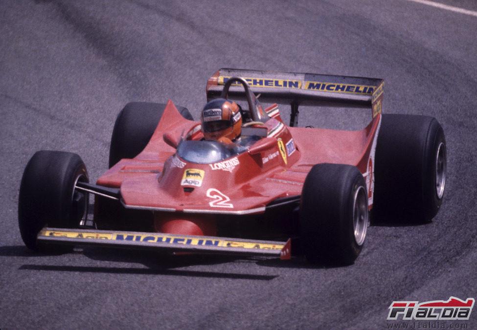 Gilles Villeneuve en el GP de Brasil de 1980