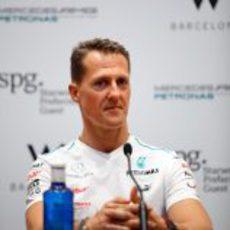 Schumacher en la presentación de uno de los patrocinadores de Mercedes