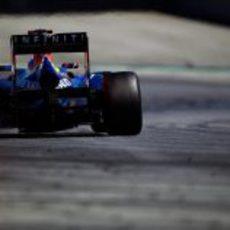 La trasera del RB8 de Sebastian Vettel en Montmeló