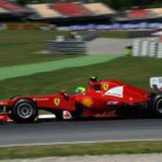 El F2012 rueda en los segundos libres del GP de España