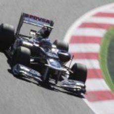 Valtteri Bottas a bordo del FW34 en los primeros libres del GP de España 2012
