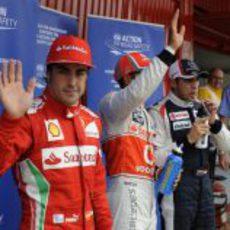 Fernando Alonso fue tercero en la clasificación del sábado