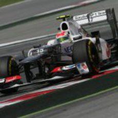 Sergio Pérez terminó en sexta posición en la definitiva Q3
