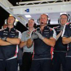 Alegría en Williams con el segundo puesto de Pastor Maldonado