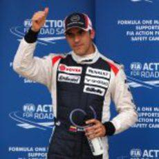Pastor Maldonado fue segundo, pero consiguió la pole a posteriori
