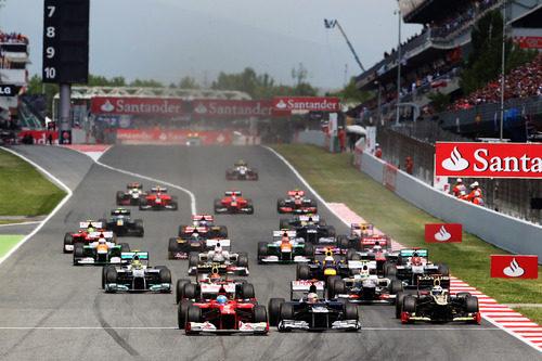 Salida del GP de España 2012