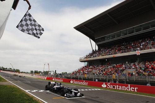 Pastor Maldonado gana el GP de España 2012