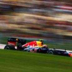 Mark Webber exprime su RB8 durante el GP de España 2012