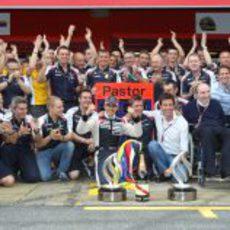 Williams celebra un triunfo por primera vez desde la temporada 2004