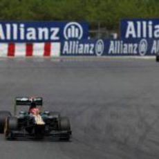 Heikki Kovalainen a los mandos del CT01 en Montmeló