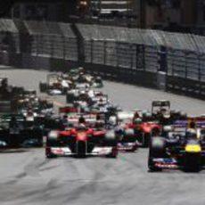 Salida del GP de Mónaco 2011
