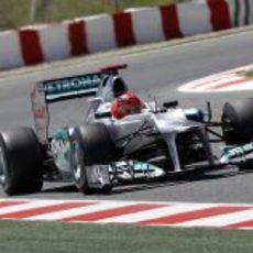Michael Schumacher rueda en los Libres 1 del GP de España