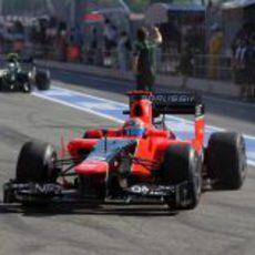 Timo Glock regresa al garaje en Barcelona