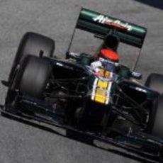 Alexander Rossi rueda por primera vez en Barcelona