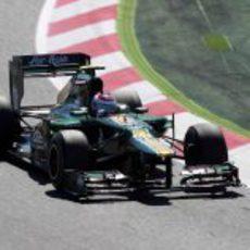 Alexander Rossi rueda con el CT01 en Montmeló