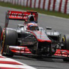 Jenson Button avanza en la Q2 del Gran Premio de España