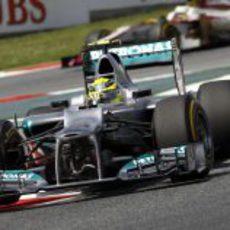 Nico Rosberg durante la clasificación en Barcelona