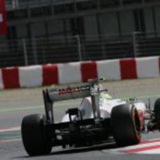 Plano trasero del Sauber de Sergio Pérez