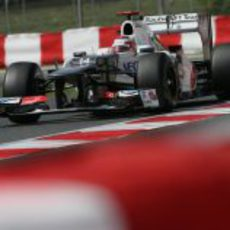 Kamui Kobayashi rueda en los Libres 3 del GP de España