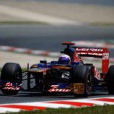 Daniel Ricciardo en la Q2 del GP de España