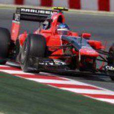 Charles Pic rueda en la clasificación del GP de España