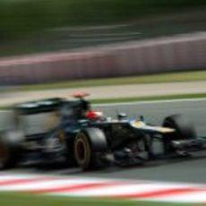 Heikki Kovalainen durante la Q1 del GP de España
