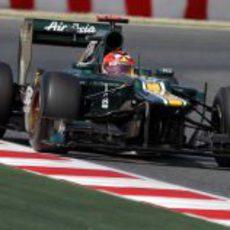 Heikki Kovalainen durante los Libres 3 en España