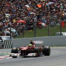 Felipe Massa exprime su F2012 en la carrera española