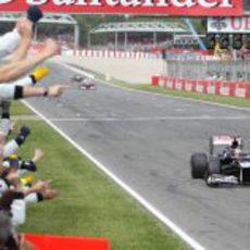 Pastor Maldonado consigue la victoria en el GP de España 2012