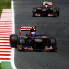 Daniel Ricciardo sigue completando kilómetros en Montmeló