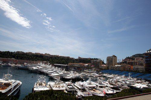 Vista del puerto de Mónaco