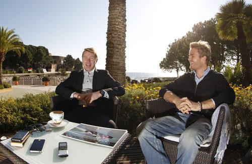 Mika Häkkinen y Nico Rosberg en Mónaco