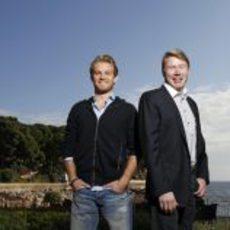 Rosberg y Häkkinen en Mónaco