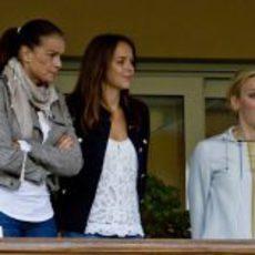 La Princesa Estefanía de Mónaco, su hija Pauline Ducruet y la Princesa Charlene de Mónaco