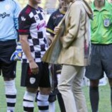 Michael Schumacher y la Princesa Charlene de Mónaco en el campo