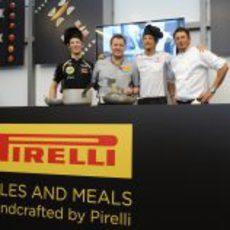 Romain Grosjean y Jenson Button cocinan con Pirelli