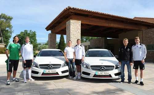 Michael Schumacher y Nico Rosberg con la Selección alemana