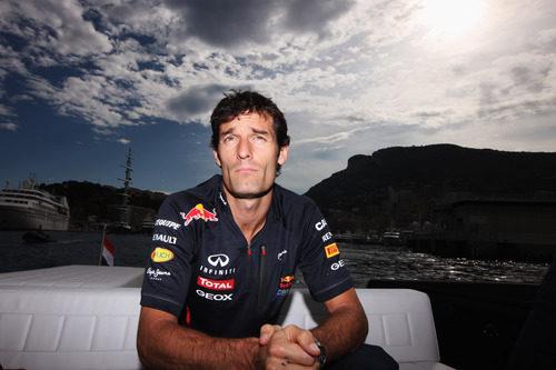 Mark Webber llega a Mónaco