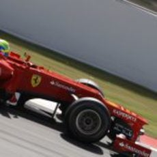 Felipe Massa en los libres 3 del GP de España 2012