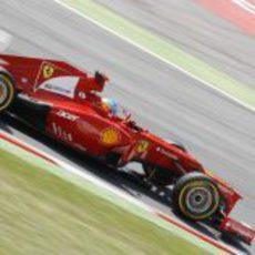 Fernando Alonso en los libres 3 del GP de España 2012