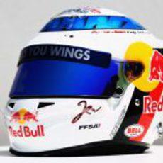 Casco especial de Jean-Eric Vergne para el GP de Mónaco 2012