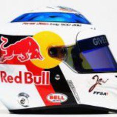 Casco especial de Jean-Eric Vergne para el GP de Mónaco 2012 (lateral)