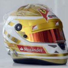 Casco especial de Fernando Alonso para el GP de Mónaco 2012
