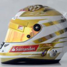 Casco especial de Fernando Alonso para el GP de Mónaco 2012 (lateral)