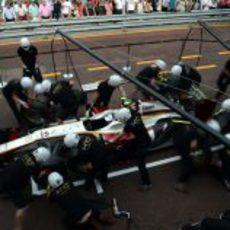 HRT practica los 'pit stops' en Mónaco