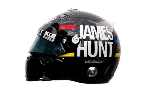 Vista lateral del casco de Kimi Räikkönen para el GP de Mónaco 2012